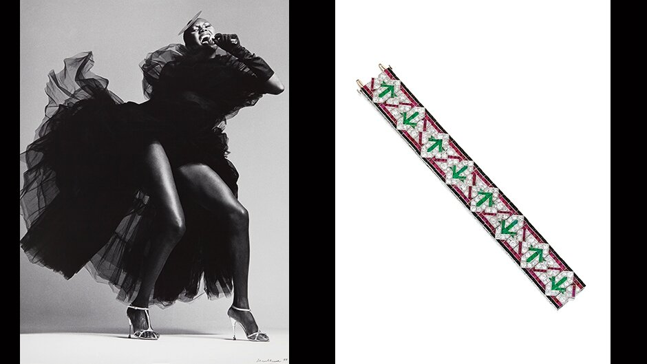 Grace Jones & A Colourful Bracelet