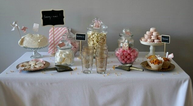 mariage chic pastel et or candy bar cook gift. Black Bedroom Furniture Sets. Home Design Ideas