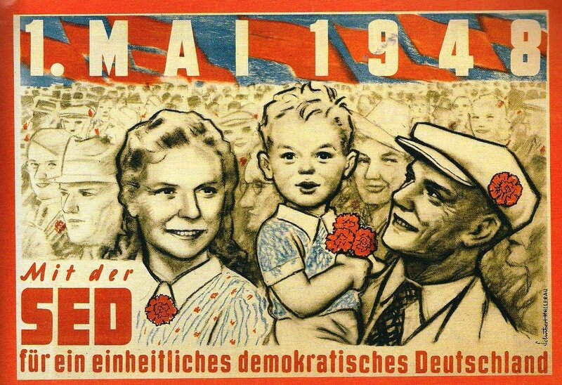 affiche mouvement socialiste après 2ème GM - création SED