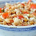 Salade de pois chiches à la morue