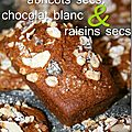 Mini Cakes abricots secs, chocolat blanc et 