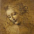 Leonardo da vinci, head of a woman (la scapigliata), 1500–1505