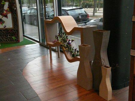 Exposition mobilier design en carton