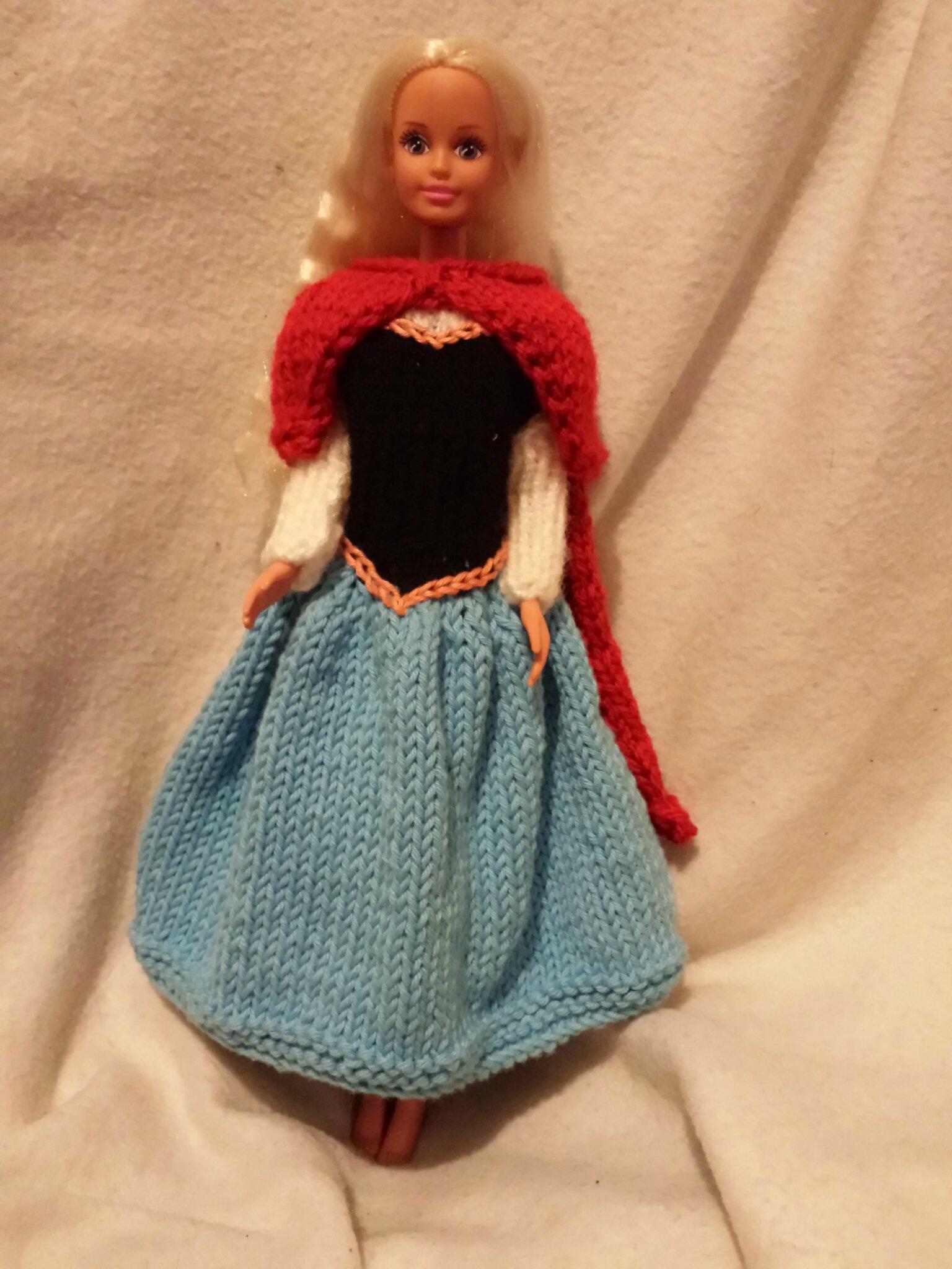 cras tricot pour poupe barbie reine des neiges - Barbie La Reine Des Neiges