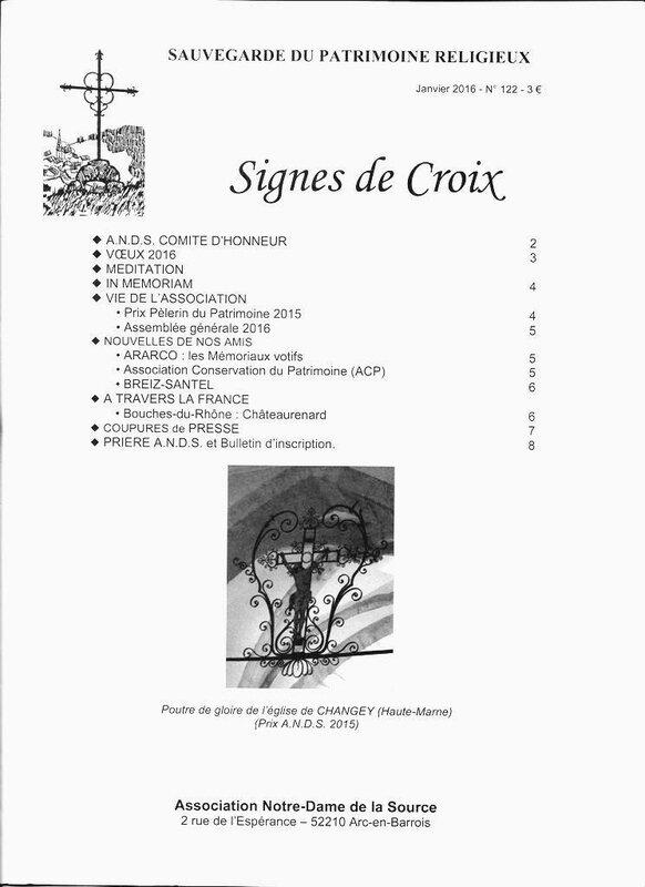 Signe de Croix Janv 2016