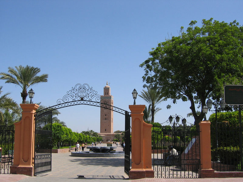 Les jardins koutoubia marrakech photo de marrakech for Jardin koutoubia