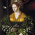 Bartolomeo veneto (unknown-1531), portrait of a lady in a green dress, 1530