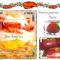 Verrine yaourt pomme fraise