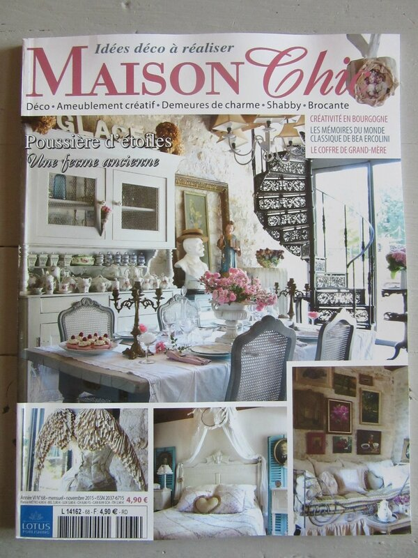 Chiffonni re d 39 toiles la une de maison chic for Abonnement maison chic magazine
