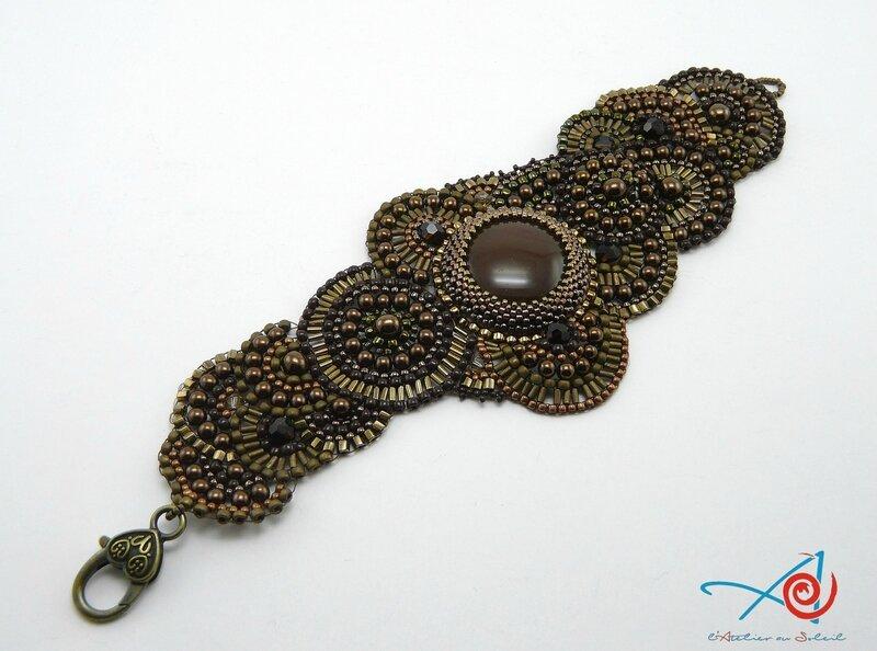 Bracelet brick stitch circulaire Maman entier diagonale (Copier)