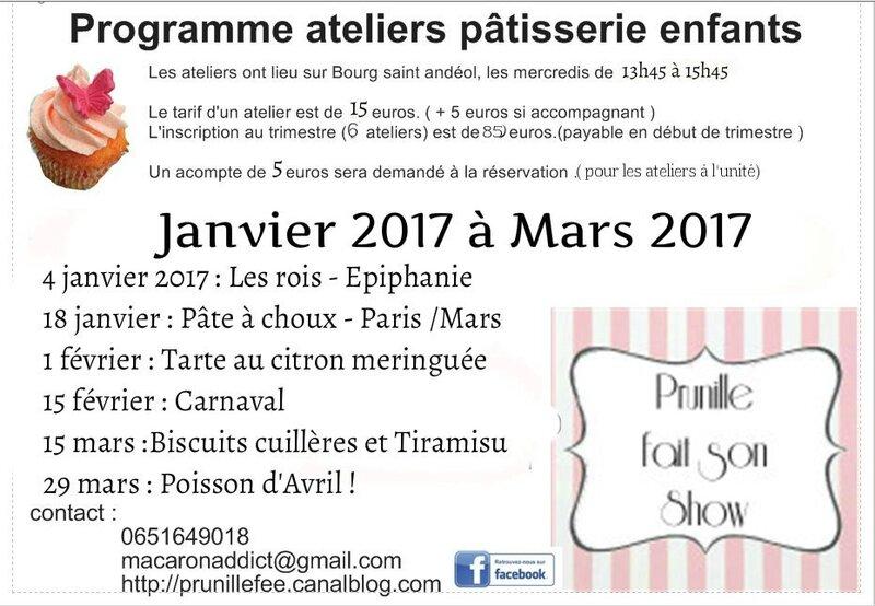 programme 2 ateliers enfants prunillefee janv 2017