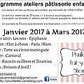 Ateliers pâtisserie pour les enfants avec prunille fait son show (programmes jusqu'à juin)
