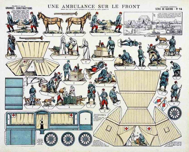 Epinal ambulance sur le front