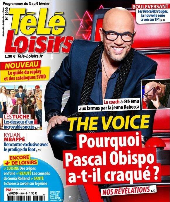 Pascal Obispo dans le magazine Télé Loisirs