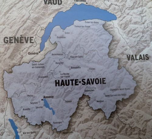 Carte haute savoie photo de fronti re franco suisse for Haute savoie carte