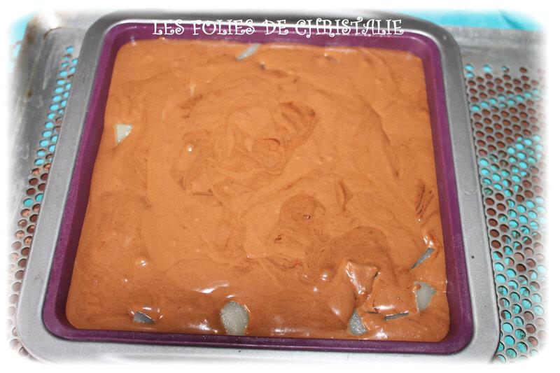 Gâteau choc poires 8