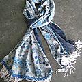 Echarple bleue à franges (2)