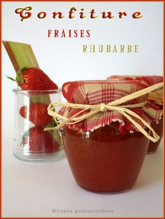 confiture fraises rhubarbe pause gourmandises. Black Bedroom Furniture Sets. Home Design Ideas