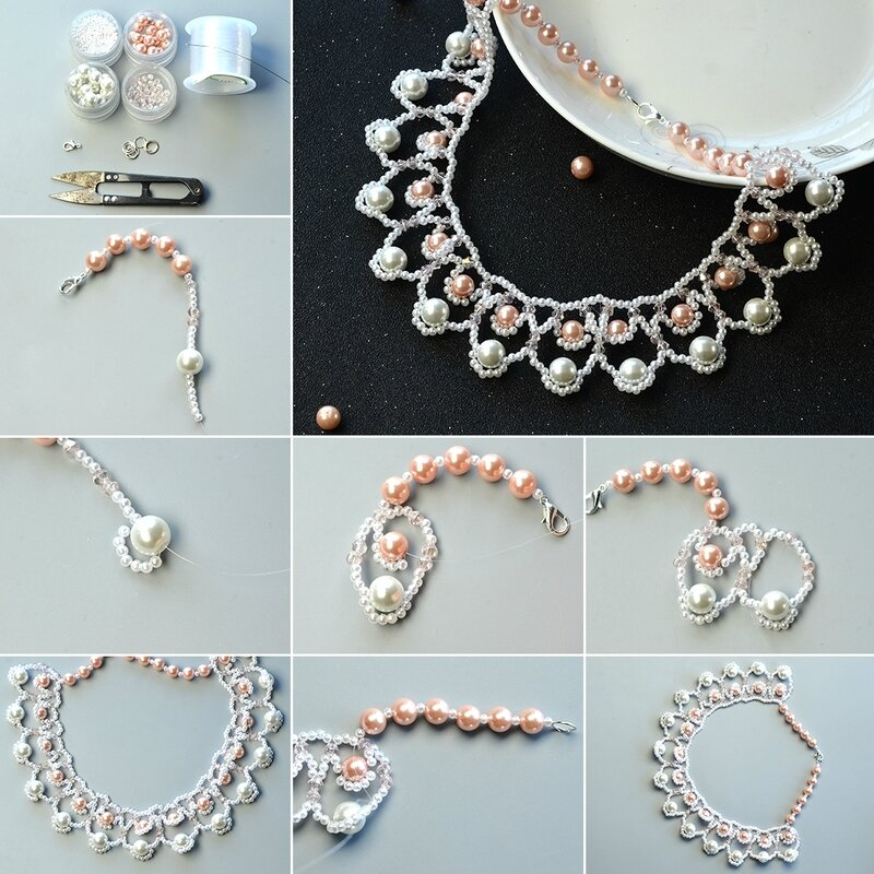 1080-Instructions-on-How-to-Make-Sea-Wave-Bib-Necklace-with-Glass-Pearl-Beads