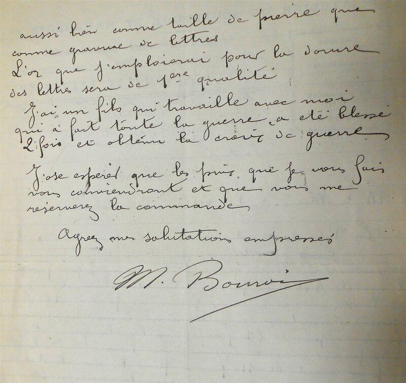 Bourdier lettre (2)