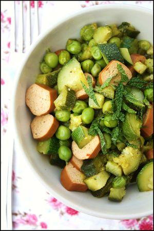 poêlée légumes menthe