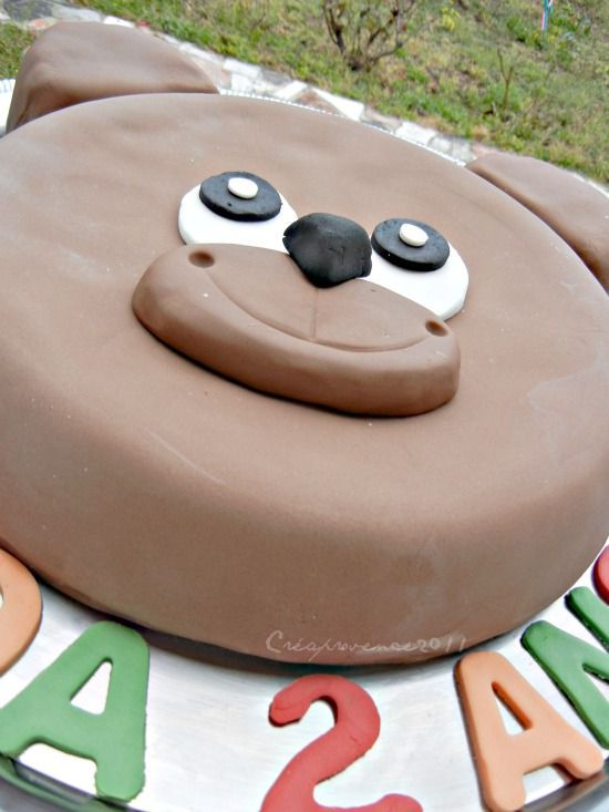 gateau ourson {teddy bear cake } - prunille fait son show
