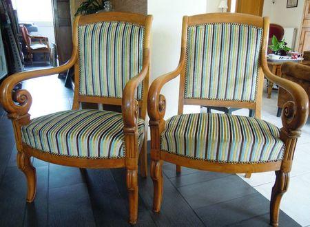 Fauteuils restauration stephane poissel tapissier d corateur - Restauration fauteuil crapaud ...