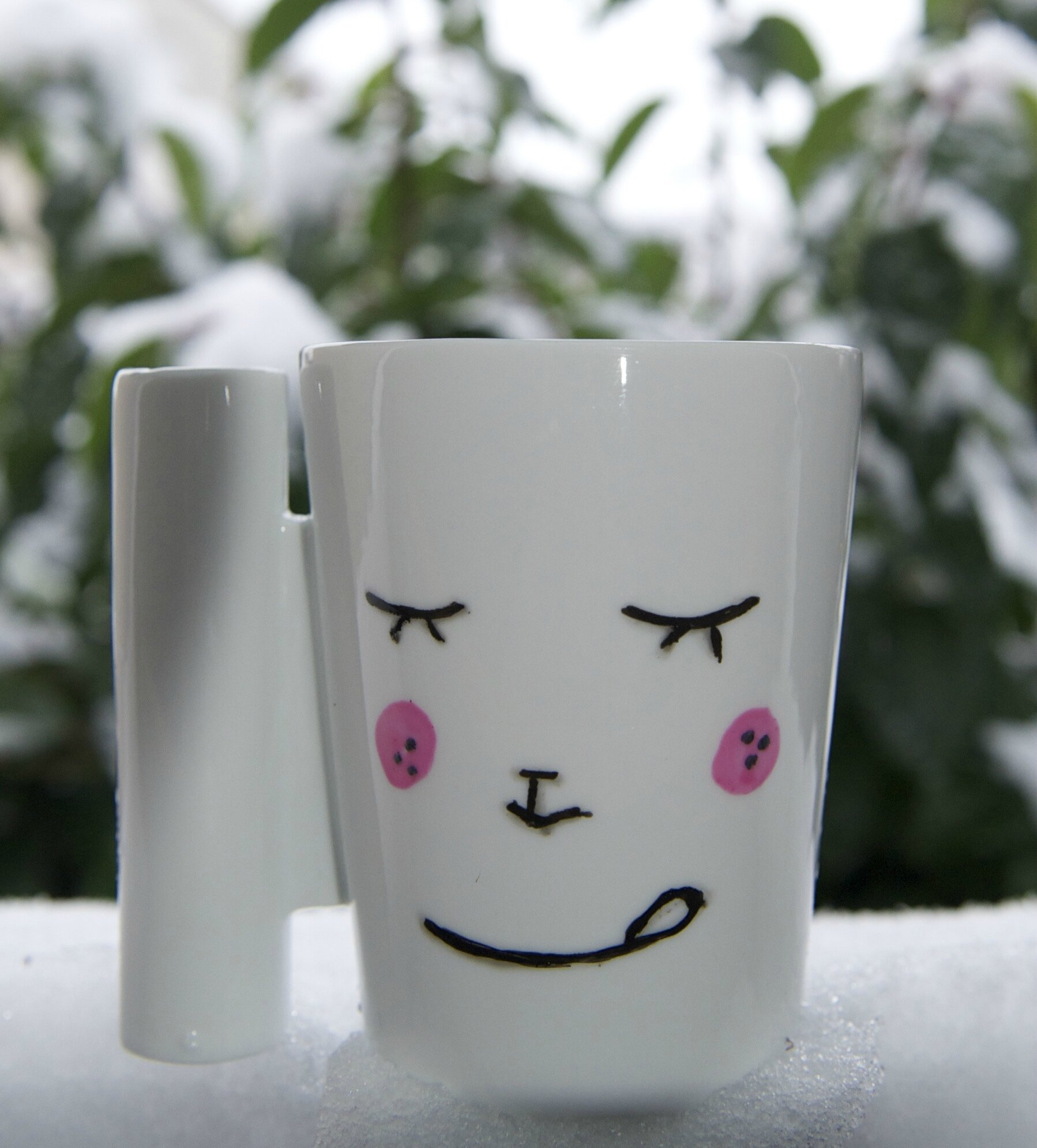 mug kawaii test peinture sur porcelaine fourchette. Black Bedroom Furniture Sets. Home Design Ideas