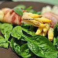 Fagots d'asperges blanches au lard et à la sauge