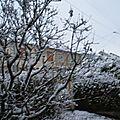 Première neige en Meuse!