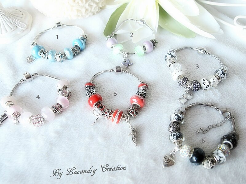 collection bracelet pandora style saint valentin