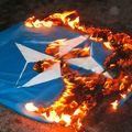 drapeau otan en feu