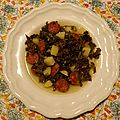 Soupe de kale au chorizo & pomme de terre