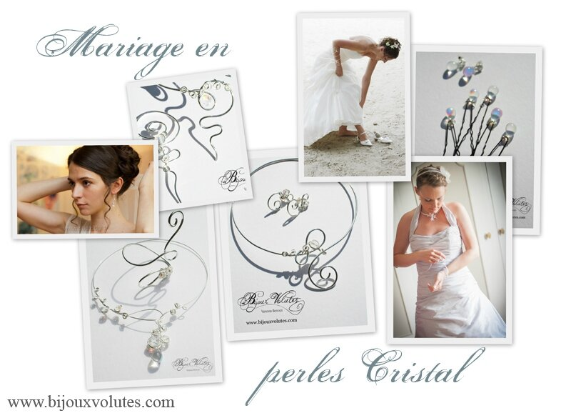 Bijoux mariage avec perles cristal