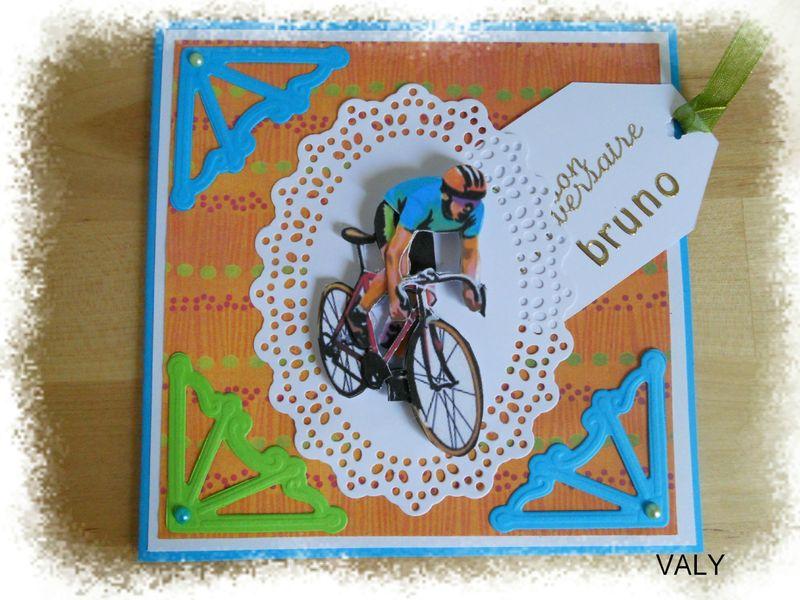Le cycliste les cr ations de valy - Dessin cycliste humoristique ...