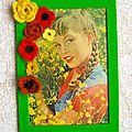 Diy ~ un cadre fleuri avec une couverture de magazine