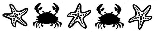 frise étoiles de mer et crabes