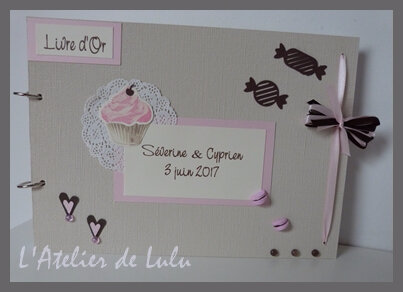 livre d'or mariage cup cake