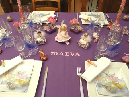 Table anniversaire maeva deco de tables - Decoration de table anniversaire 20 ans ...