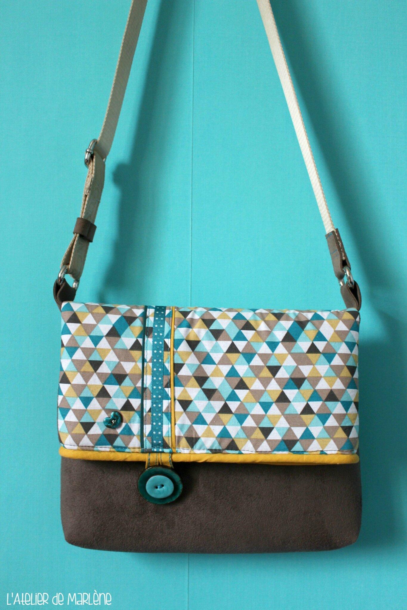 Mon nouveau sac les cr ations bijoux et accessoires de marl ne - Tuto sac besace bandouliere ...
