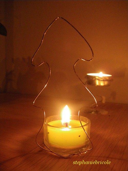D co de no l faire soi m me en fil de fer st phanie bricole - Faire ses bougies parfumees soi meme ...