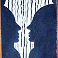 Rencontre avec soi 1 - Jeu de noir et blanc - Inspiration théâtre d'ombres - Création artistique symétrie