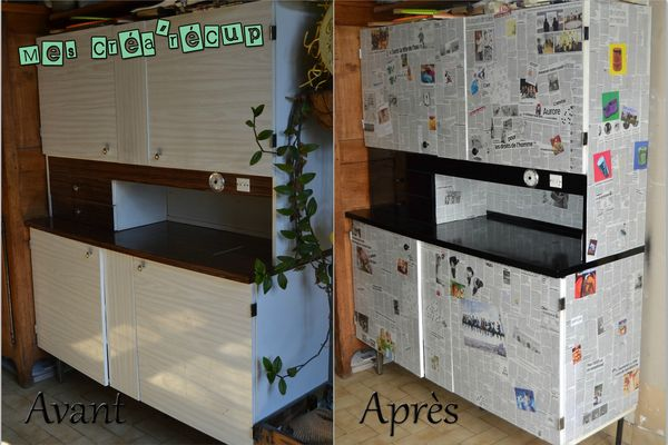Meuble de cr a mes cr a 39 r cup - Customiser meuble cuisine ...