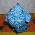 poisson bleu 2 - de face