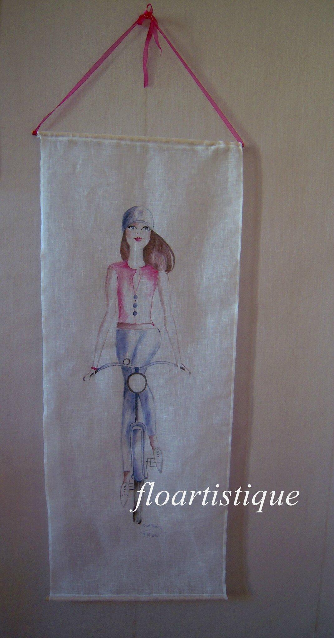 Panneau mural d co chambre ado vendu photo de deco tissu lin art de l - Panneau mural chambre ...