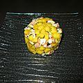 Tartare mangue crevettes