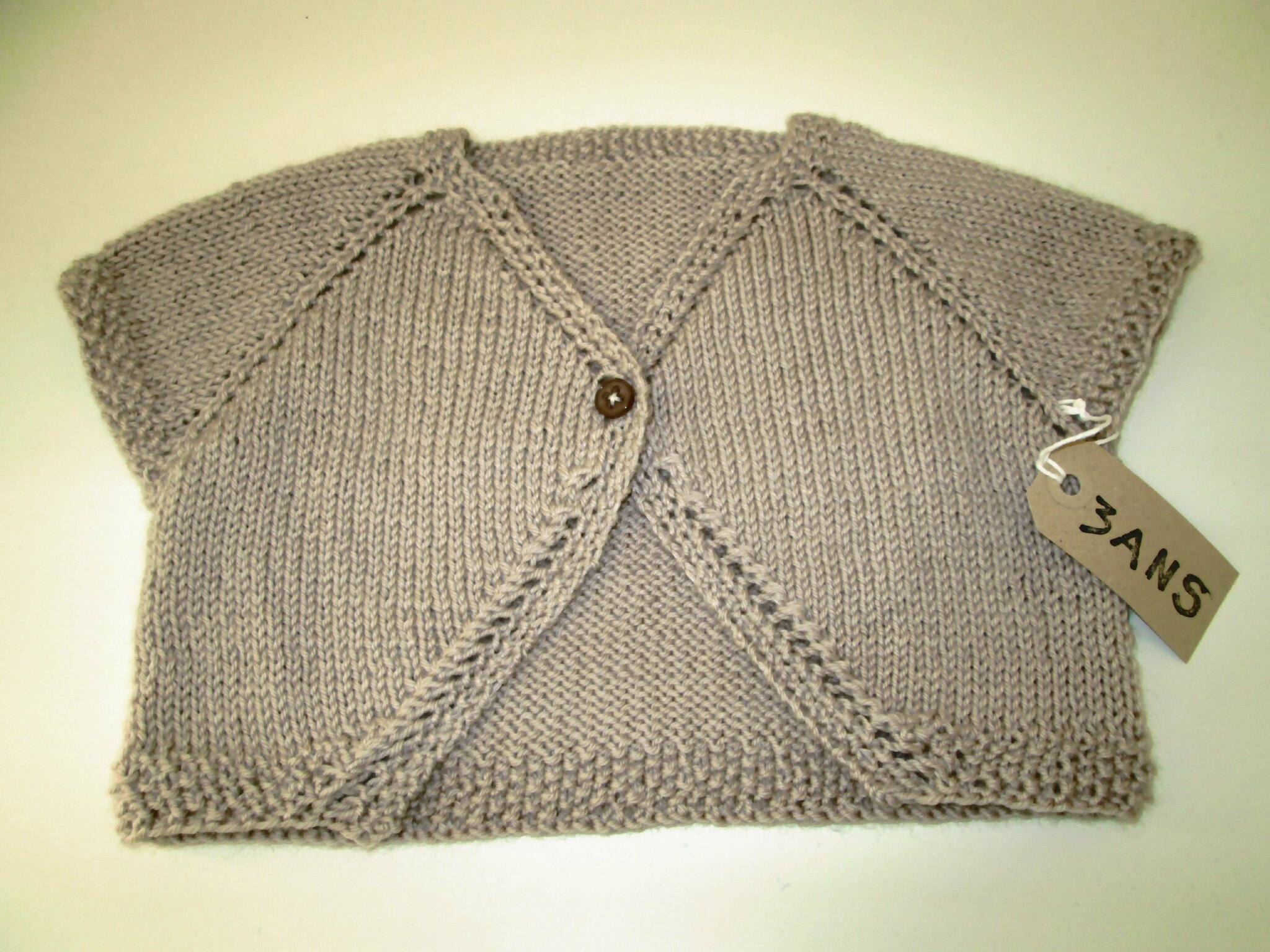 modele tricot gilet 6 ans