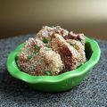 Croquettes de pommes de terre au sésame