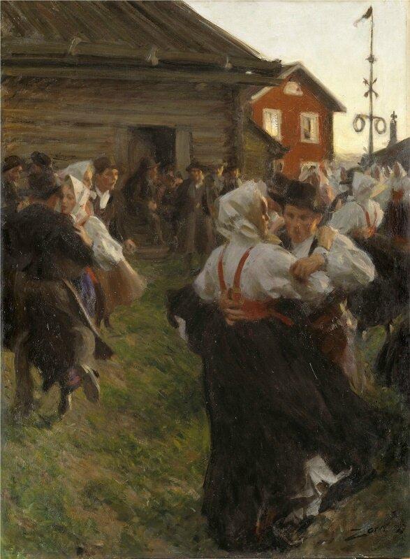 anders zorn danse de la saint jean 1901