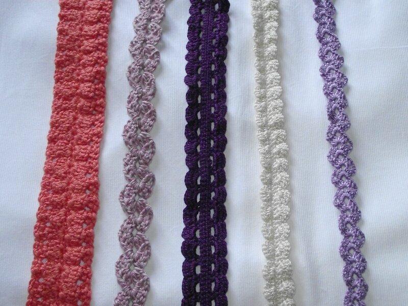 échantillons bandeaux crochet 1